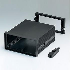 B6032031 / CAJA DIN-MODULAR TIPO A, Vers. I - PPO (UL 94 V-0) - black RAL 9005 - 96x48x100mm