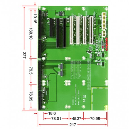 PBPE-08P41 / Backplanes PICMG1.3 Server grade