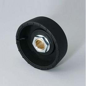 B8141069 / STAR-KNOBS 41 Dentado - PA 6 - nero - 41x14mm - Orificio de eje 6 mm
