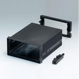 B6032041 / CAJA DIN-MODULAR TIPO A, Vers. I - PPO (UL 94 V-0) - black RAL 9005 - 96x48x109mm