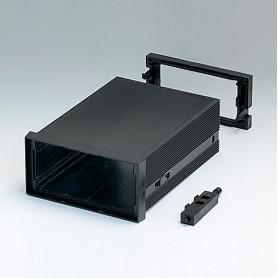 B6032061 / CAJA DIN-MODULAR TIPO A, Vers. I - PPO (UL 94 V-0) - black RAL 9005 - 96x48x124mm