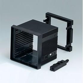 B6023011 / CAJA DIN-MODULAR TIPO A - PPO (UL 94 V-0) - black RAL 9005 - 72x72x57mm