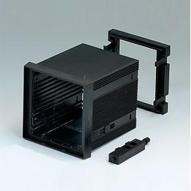 B6023021 / CAJA DIN-MODULAR TIPO A - PPO (UL 94 V-0) - black RAL 9005 - 72x72x75mm