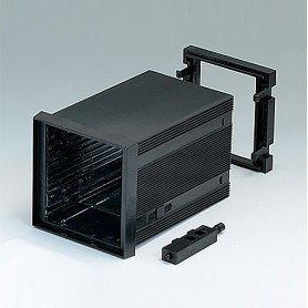 B6023031 / CAJA DIN-MODULAR TIPO A - PPO (UL 94 V-0) - black RAL 9005 - 72x72x100mm