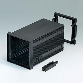 B6023061 / CAJA DIN-MODULAR TIPO A - PPO (UL 94 V-0) - black RAL 9005 - 72x72x124mm