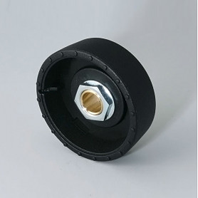 B8141089 / STAR-KNOBS 41 Dentado - PA 6 - nero - 41x14mm - Orificio de eje 8 mm