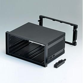 B6043031 / CAJA DIN-MODULAR TIPO A - PPO (UL 94 V-0) - black RAL 9005 - 144x72x100mm