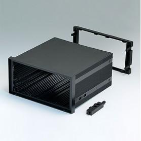 B6043071 / CAJA DIN-MODULAR TIPO A - PPO (UL 94 V-0) - black RAL 9005 - 144x72x131mm