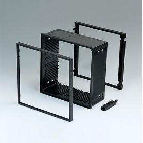 B6045011 / CAJA DIN-MODULAR TIPO A - PPO (UL 94 V-0) - black RAL 9005 - 144x144x57mm