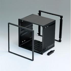 B6045031 / CAJA DIN-MODULAR TIPO A - PPO (UL 94 V-0) - black RAL 9005 - 144x144x100mm