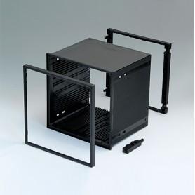 B6045051 / CAJA DIN-MODULAR TIPO A - PPO (UL 94 V-0) - black RAL 9005 - 144x144x114mm