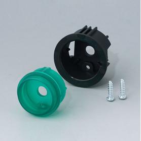 B8733205 / STAR-KNOBS Versión de Superficie con Iluminación LED - Kit de montaje en Superficie 33 - PC (UL 94 HB) - emerald