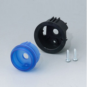 B8733206 / STAR-KNOBS Versión de Superficie con Iluminación LED - Kit de montaje en Superficie 33 - PC (UL 94 HB) - saphire