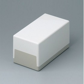 A9021065 / CAJA PLANA 120 H, Vers. I - ABS (UL 94 HB) - off-white RAL 9002 - 120x65x65mm - IP 40