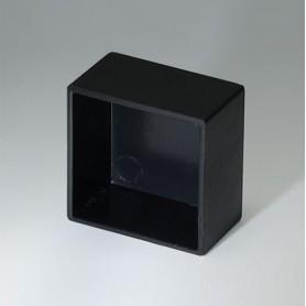 A8021129 / CAJA VACÍA, Vers. III - ABS (UL 94 HB) - black RAL 9005 - 21,2x21,2x12,1mm