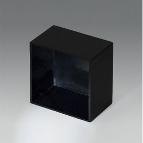 A8032208 / CAJA VACÍA, Vers. III - PA 66 (UL 94 V-2) - black RAL 9005 - 32,4x32,4x20mm