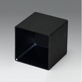 A8039398 / CAJA VACÍA, Vers. II - PA 66 (UL 94 V-2) - black RAL 9005 - 38,9x38,9x38,8mm