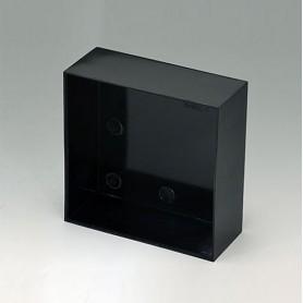 A8010400 / CAJA VACÍA, Vers. I - PF (UL 94 V-0) - black RAL 9005 - 100x100x40mm