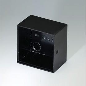 A8020130 / CAJA VACÍA, Vers. I - PF (UL 94 V-0) - black RAL 9005 - 20x20x13,1mm