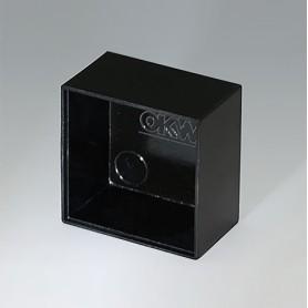 A8025150 / CAJA VACÍA, Vers. I - PF (UL 94 V-0) - black RAL 9005 - 25x25x14,8mm