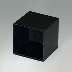 A8025251 / CAJA VACÍA, Vers. I - PF (UL 94 V-0) - black RAL 9005 - 25x25x25mm