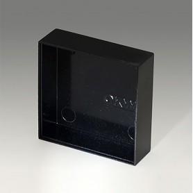 A8040130 / CAJA VACÍA, Vers. I - PF (UL 94 V-0) - black RAL 9005 - 40x40x12,8mm