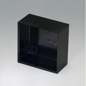 A8040200 / CAJA VACÍA, Vers. I - PF (UL 94 V-0) - black RAL 9005 - 40,2x40,2x20mm