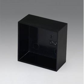 A8050250 / CAJA VACÍA, Vers. I - PF (UL 94 V-0) - black RAL 9005 - 50,1x50,1x25,1mm