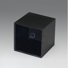 A8050500 / CAJA VACÍA, Vers. I - PF (UL 94 V-0) - black RAL 9005 - 50,7x50,7x49,7mm