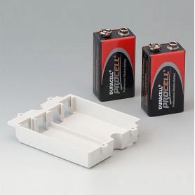 A9174002 / Compartimento de batería, 2 x 9 V - ABS (UL 94 HB) - off-white RAL 9002
