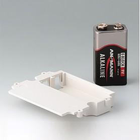 A9174003 / Compartimento de batería, 1 x 9 V - ABS (UL 94 HB) - off-white RAL 9002