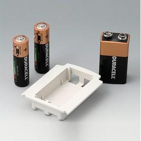 A9176128 / Compartimento de batería XS, 2 x AA o 1 x 9V - ABS (UL 94 HB)