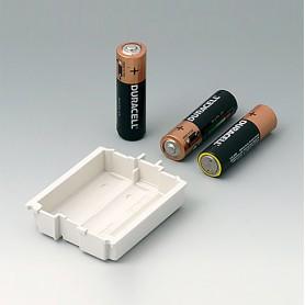 A9176158 / Compartimento de batería XS, 3 x AA - ABS (UL 94 HB) - off-white RAL 9002