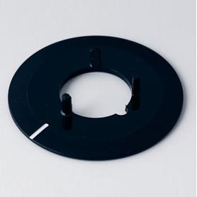 A7331010 / Disco 31, con línea - ABS (UL 94 HB) - black RAL 9005