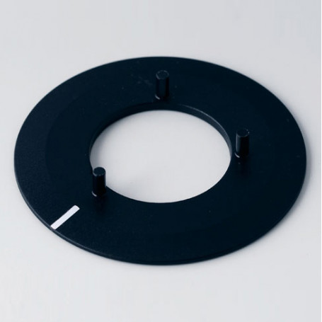 A7340010 / Disco 40, con línea - ABS (UL 94 HB) - black RAL 9005