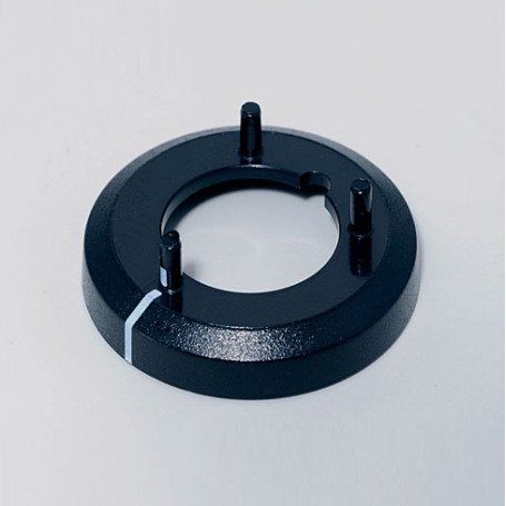 A7516010 / Cubierta de tuerca 16, con línea - ABS (UL 94 HB) - black RAL 9005