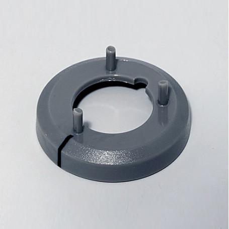 A7516018 / Cubierta de tuerca 16, con línea - ABS (UL 94 HB) - dusty grey RAL 7037