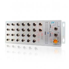 ITP-1204GTM Series: 12x 10/100Base M12+ 4x GbE M12
