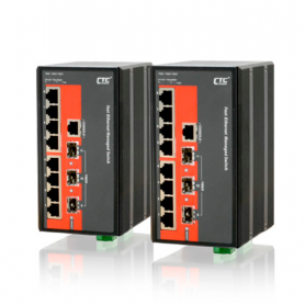 IPS-G803SM Series: 8x GbE RJ45 + 3x 100/1000Base SFP, Managed Ethernet Switch