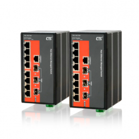 IPS-803GSM Series: 8x 10/100Base RJ45 + 3x 100/1000Base SFP, Managed Ethernet Switch