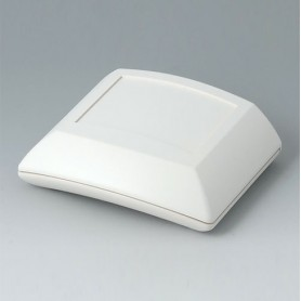B7000107 / ERGO-CASE S, plana - ABS (UL 94 HB) - off-white RAL 9002 - 80x96x32mm - IP 54 opt.