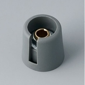 "A3016068 / COM-KNOBS 16 - Con orificio para elemento de marcaje ""Dial"" 16x16mm - PA 6 - volcano - Orificio eje 6 mm"