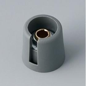 """A3016068 / COM-KNOBS 16 - Con orificio para elemento de marcaje """"Dial"""" 16x16mm - PA 6 - volcano - Orificio de eje 6 mm"""