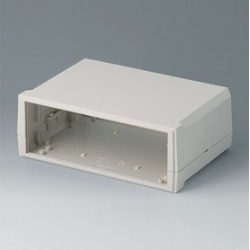 B3020127 / MOTEC M, plano/alto - ABS (UL 94 HB) - off-white RAL 9002 - 205x140x75mm - IP 40