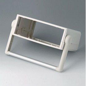 B3020147 / MOTEC M, con manillar - ABS (UL 94 HB) - off-white RAL 9002 - 205x140x75mm - IP 40