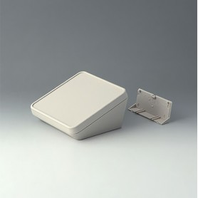 B4414207 / PROTEC 140, Vers. II - ASA+PC-FR (UL 94 V-0) - off-white RAL 9002 - 140x140x76mm - IP 65 opt.