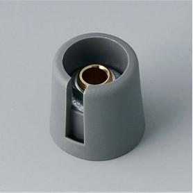 "A3016638 / COM-KNOBS 16 - Con orificio para elemento de marcaje ""Dial"" 16x16mm - PA 6 - volcano - Orificio eje 1/4"""