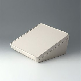 B4422107 / PROTEC 220, Vers. I - ASA+PC-FR (UL 94 V-0) - off-white RAL 9002 - 220x220x108mm - IP 65 opt.