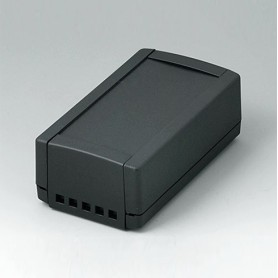 B1050469 / TOPTEC 123 H, Vers. II - ABS (UL 94 HB) - black RAL 9005 - 123x68x45mm - IP 40