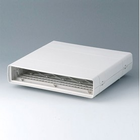 A0214070 / EURO CASE 42 TE, sin asa - ABS (UL 94 HB) - off-white RAL 9002 - 260x250x54mm